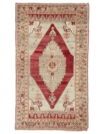 "1960's Vintage Turkish Rug - 5`1"" x 9`0"""