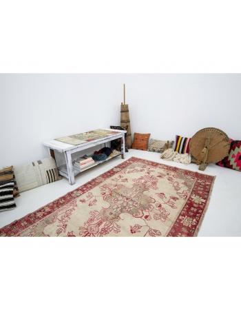 "Washed Out Vintage Turkish Anatolian Rug - 4`3"" x 6`11"""