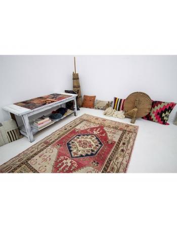 "One Of A Kind Vintage Turkish Rug - 4`2"" x 6`1"""