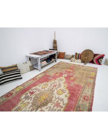 "Vintage Turkish Konya Wool Rug - 5`0"" x 13`7"""