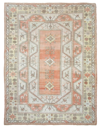 "Large Vintage Turkish Milas Rug - 10`2"" x 13`7"""