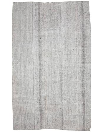 "Oversized Vintage Modern Turkish Gray Rug - 8`10"" x 15`1"""