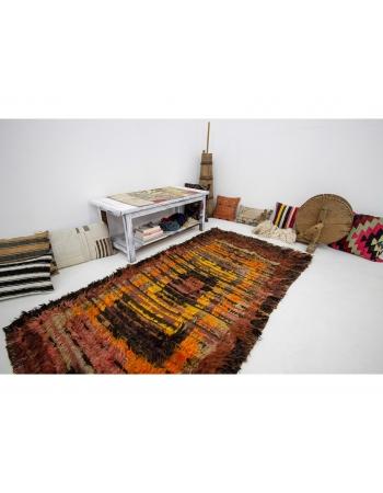 """Vintage Decorative Turkish Tulu Rug - 3`10"""" x 7`3"""""""