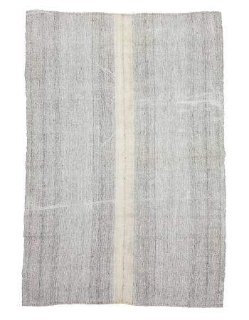 "Gray Large Vintage Modern Turkish Kilim  - 7`3"" x 10`0"""