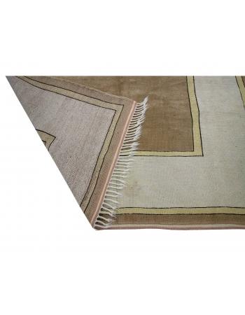 "Vintage Wool Modern Turkish Milas Rug - 6`0"" x 8`7"""