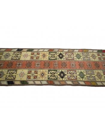 "Vintage Turkish Wool Milas Runner Rug - 2`6"" x 9`1"""