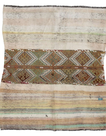 "Decorative Vintage Unique Turkish Kilim - 4`7"" x 5`3"""