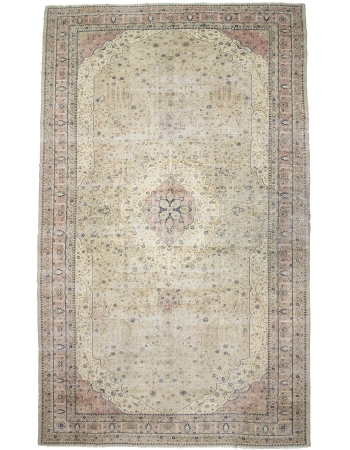 "Oversized Vintage Turkish Oushak Rug - 13`2"" x 23`9"""