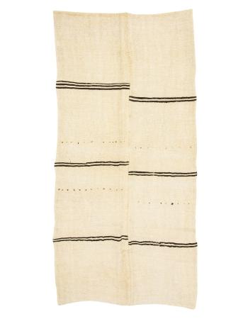 """Striped Vintage Turkish Hemp Kilim Rug - 6`3"""" x 12`2"""""""