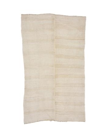 "Striped Vintage Hemp Kilim Rug - 7`3"" x 12`6"""
