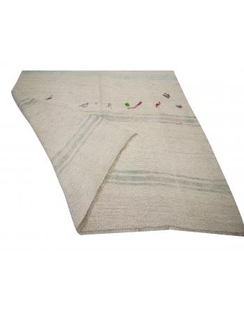 "Hemp Vintage Unique Kilim Rug - 5`11"" x 13`1"""