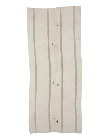 "Vintage Cotton Kilim Rug - 4`8"" x 10`10"""