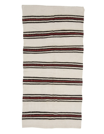 "Hemp Vintage Striped Kilim Rug - 4`0"" x 8`0"""