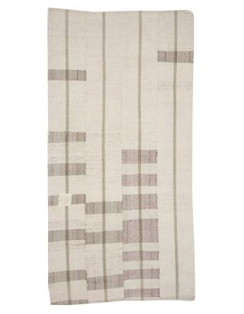 "Vintage Modern Turkish Cotton Kilim Rug - 4`10"" x 9`6"""