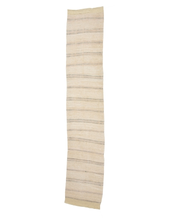 "Striped Vintage Hemp Kilim Runner - 2`2"" x 10`4"""