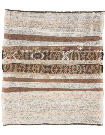 "Vintage Decorative Small Kilim Rug - 3`11"" x 5`1"""