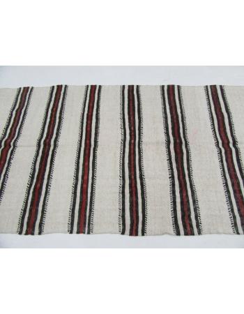 "Striped Vintage Hemp Kilim Rug - 4`3"" x 7`10"""