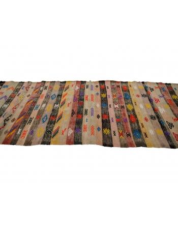"Embroidered Vintage Kilim Runner - 3`3"" x 8`8"""