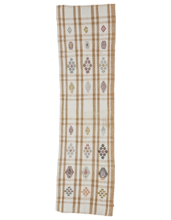 "Vintage Modern Decorative Kilim Runner - 2`3"" x 8`0"""