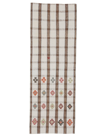 "Decorative Vintage Turkish Kilim Runner - 2`5"" x 6`9"""