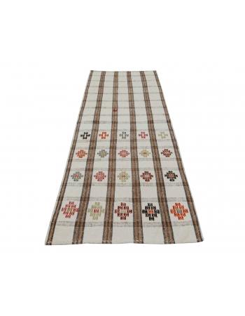 "Decorative Vintage Turkish Kilim Runner - 2`5"" x 6`9"""