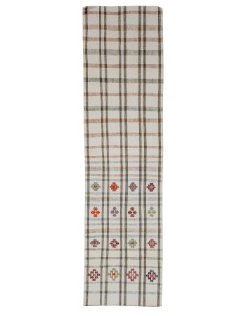 """Vintage Modern Cotton Kilim Runner - 2`4"""" x 8`7"""""""