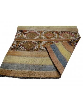 "Decorative Vintage Kilim Rug - 4`6"" x 5`0"""