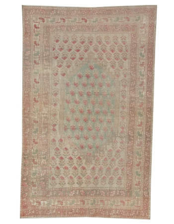"Washed Out Vintage Runner Rug - 4`3"" x 6`10"""