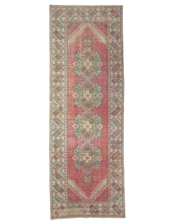 "Vintage Decorative Konya Runner Rug - 3`3"" x 9`2"""