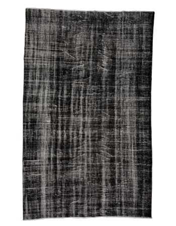 "Dark Gray Vintage Overdyed Rug - 6`3"" x 10`0"""