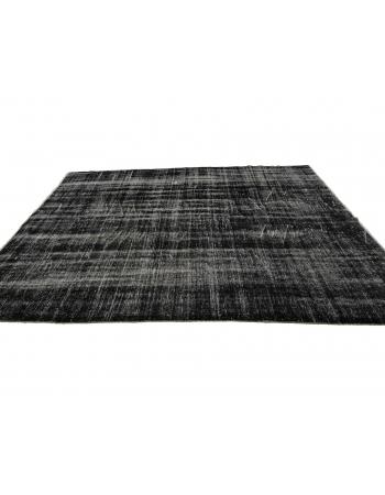 "Dark Gray Vintage Overdyed Rug - 6`3"" x 10`0"""