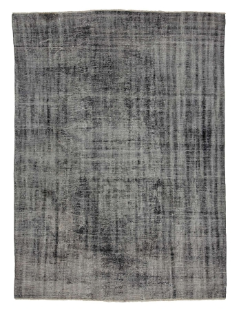 "Large Vintage Gray Turkish Overdyed Rug - 7`6"" x 10`8"""
