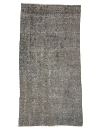 "Vintage Gray Turkish Ovedyed Rug - 3`8"" x 7`1"""