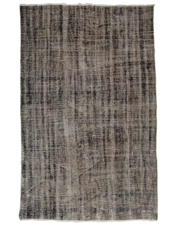 "Gray Overdyed Vintage Turkish Carpet - 5`7"" x 8`10"""