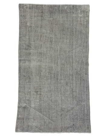 "Light Gray Vintage Overdyed Rug - 5`0"" x 9`0"""