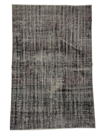 "Gray Vintage Overdyed Turkish Rug - 5`0"" x 7`7"""