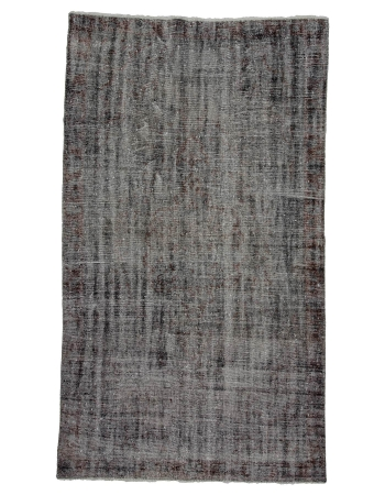 "Gray Overdyed Vintage Turkish Rug - 5`6"" x 9`9"""