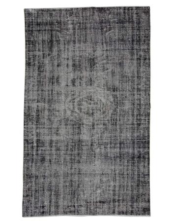 "Gray Vintage Turkish Overdyed Rug - 5`5"" x 9`1"""