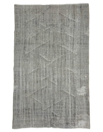 "Silver Gray Vintage Turkish Rug - 5`4"" x 8`10"""