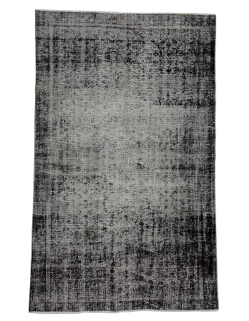 "Overdyed Vintage Gray Turkish Rug - 5`2"" x 8`5"""