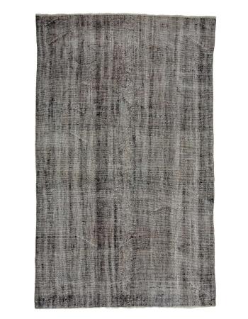 "Gray Vintage Overdyed Turkish Rug - 6`0"" x 10`3"""