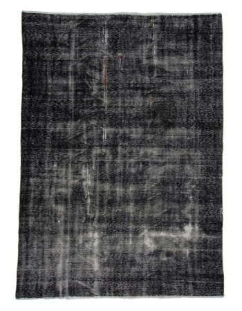 "Gray Overdyed Vintage Turkish Carpet - 6`7"" x 9`0"""