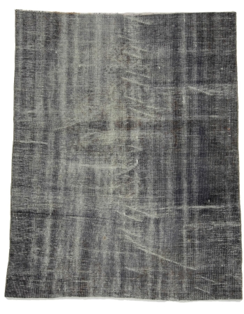 "Gray Vintage Turkish Area Rug - 5`1"" x 6`7"""