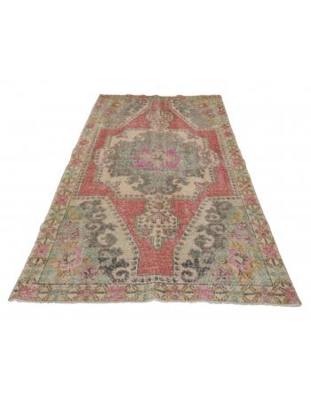 "Vintage Decorative Turkish Rug - 3`11"" x 6`9"""