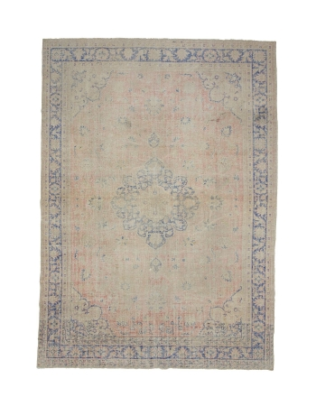 "Distressed Large Vintage Oushak Rug - 8`2"" x 11`8"""