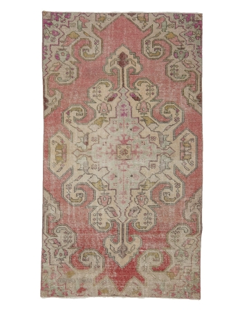 "Worn Out Vintage Turkish Rug - 3`10"" x 6`9"""