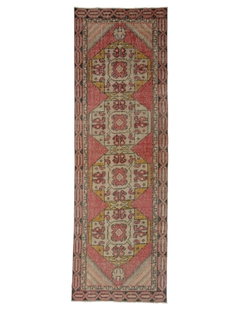 "1960's Vintage Handknotted Turkish Runner - 2`9"" x 8`10"""