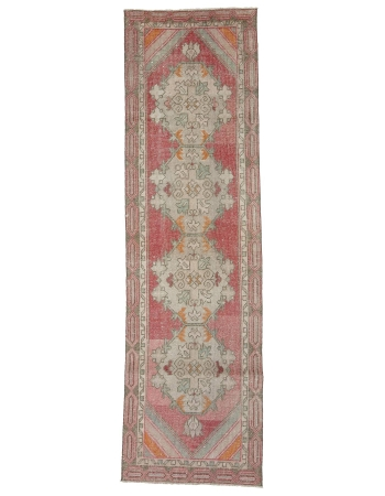 "Vintage 1960's Turkish Runner Rug - 2`9"" x 9`6"""