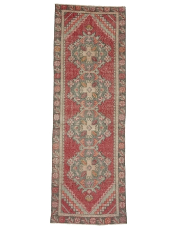 "Vintage Decorative Turkish Konya Runner - 2`10"" x 8`6"""