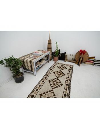 """Natural Vintage Wool Runner Rug - 2`7"""" x 11`6"""""""